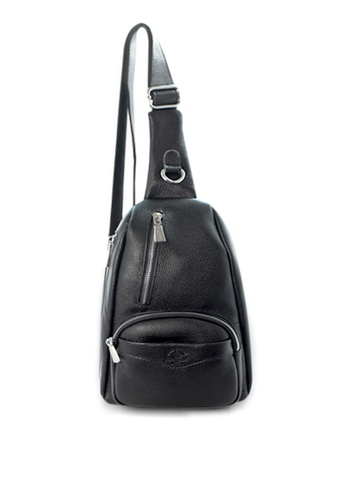 Santa Barbara Polo & Racquet Club black Santa Barbara Polo & Racquet Club Leather Crossbody Bag SA678AC0HBNASG_1