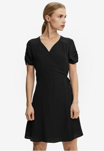 Vero Moda black Wrap Mini Dress 73A5CAA6506A39GS_1