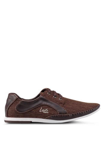 Louis Cuppers brown Mix Materials Sneakers 2CA67SH1B590A3GS_1