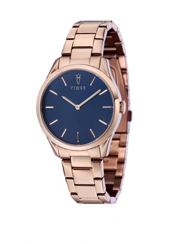 Fjord gold Fjord VENDELA FJ-6028-55 Women's Ionic Plating - Rose Gold Bracelet Watch - intl 052ACACFB56334GS_1