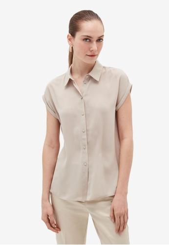 OVS grey Cap-Sleeved Shirt BFBD1AAD6DB9BCGS_1