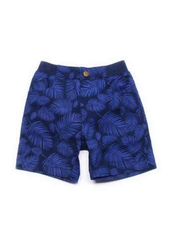 Mini Moley navy Botanical Print Boy's Shorts BD9E1KAC6E643AGS_1