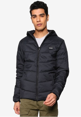 !Solid black Liam Puffer Jacket 2ACD9AA96FE5FDGS_1