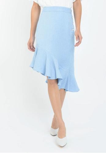 L'zzie blue LZZIE CEZANNE SKIRT - BLUE 41D4CAAAFF3715GS_1