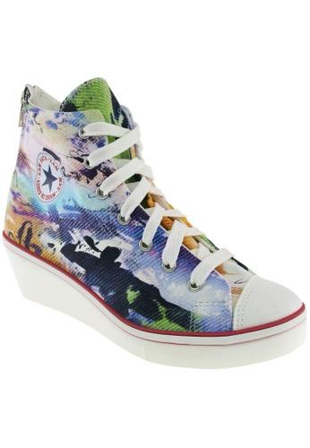 Maxstar Maxstar Women's N7H Zipper Canvas Low Wedge Heel Sneakers Printed MA164SH88PQXSG_1
