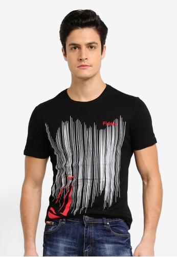 Fidelio 黑色 短袖印花T恤 EBD4AAA91B892FGS_1