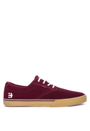 Etnies red Jameson Vulc Sneakers FAABESH06BB13EGS_1