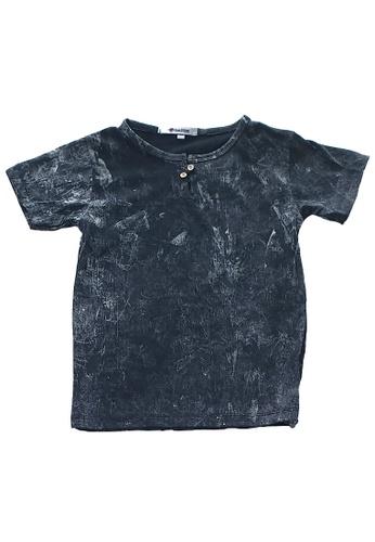 Roses & Rhinos black Tye Dye Button up T-shirt C98D8KA1C2F7BEGS_1