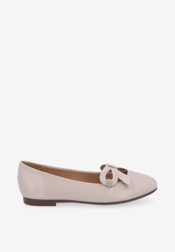 Carlo Rino 灰色 Medium Grey Classy Cassie Square Toe Ballerina 0E20CSH6AC29A1GS_1