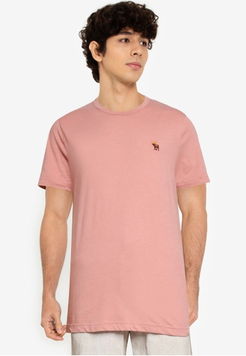 Abercrombie & Fitch pink Icon Crew T-Shirt 100C1AA2C3FB8DGS_1