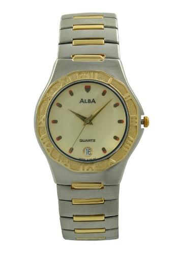 Alba gold and silver ALBA Jam Tangan Pria - Silver Gold - Stainless Steel - AXDA92 AL383AC0UE0VID_1