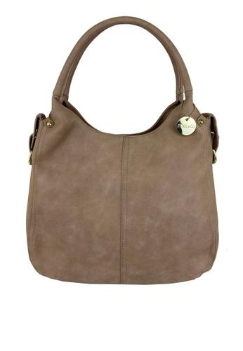 Mel&Co beige Faux Leather Double Handle Bag C3FFBAC1A2295DGS_1