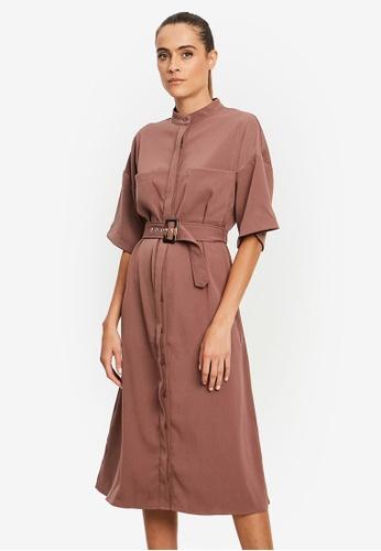 REUX purple Paige Shirt Dress 842B4AA99A291EGS_1