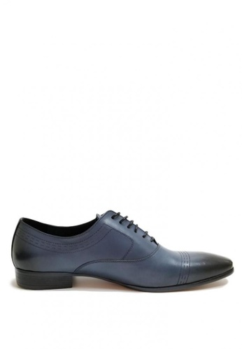 Kings Collection blue Lucca Leather Shoes 44859SHEE3F77BGS_1