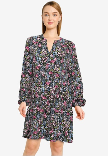 JACQUELINE DE YONG black Lion Long Sleeve Layer Dress 206D1AAC156F8BGS_1