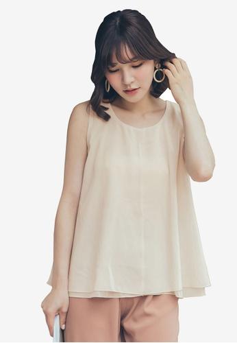 Tokichoi white Chiffon Back Tie Full Top B7E23AA85A3347GS_1