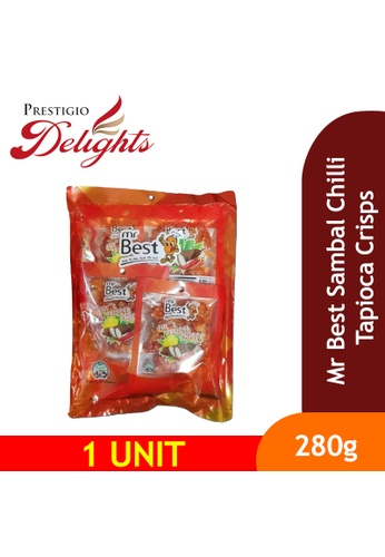 Prestigio Delights Mr Best Sambal Chilli Tapioca Crisps 280g C3C80ES6D271CBGS_1