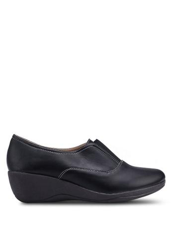 Louis Cuppers 黑色 質感楔型鞋 84721SHD83B457GS_1