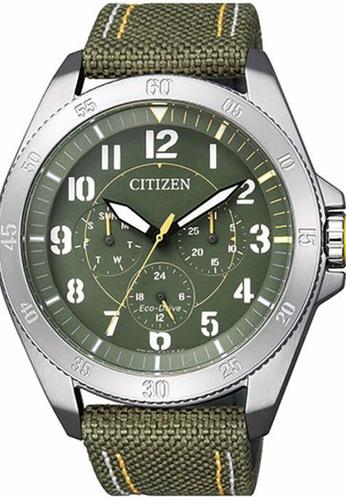 Citizen green Citizen Men's Green Leather Watch - BU2030-09W CB6B8AC5596D27GS_1
