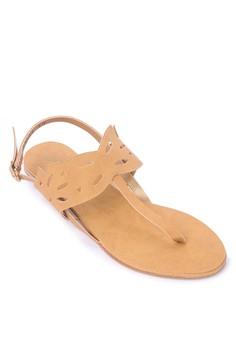 Cutout Flats Sandals