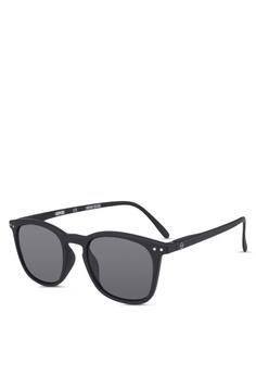a1eed21a3dc8 Izipizi black SUN LetmeSee #E Black Soft Grey Lenses +0.00 Sunglasses  00E1FGLC2FB689GS_1