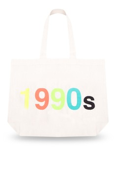 Flashback 1990s Embroidered Canvas Tote Bag