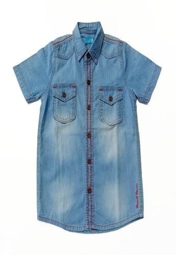 Versail blue Versail Junior Kemeja Denim M8197 E5D5EKADC4F4ECGS_1