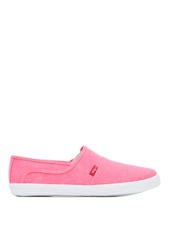 Life8 粉紅色 Casual 水洗布 軟木棉花糖系列 休閒女鞋-09679-桃紅 LI216SH098YUTW_1