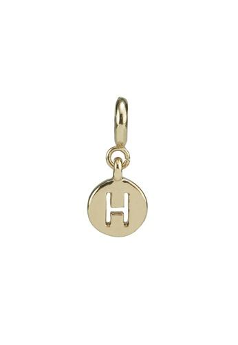 My Flash Trash gold Gold letter charm h 82EF8AC5CBB6D7GS_1