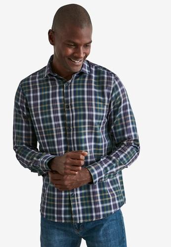 Trendyol blue Plaid Regular Fit Long Sleeve Shirt 1D9EAAADE0AE47GS_1