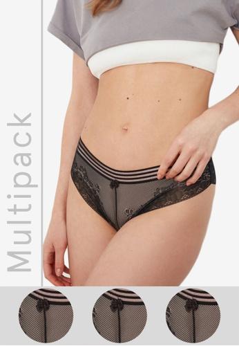 Trendyol black Classic Lace Panties Pack 10101US648C130GS_1