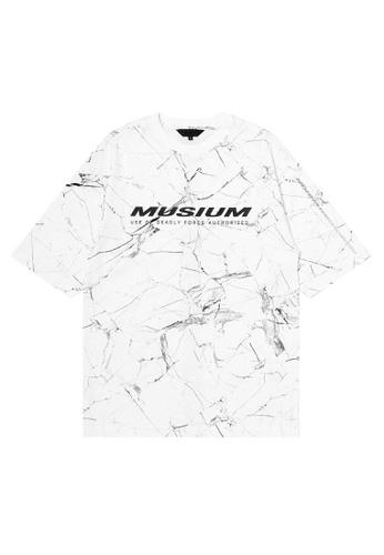 MUSIUM DIV white Logo tee 7AC3BAA68F3E3AGS_1