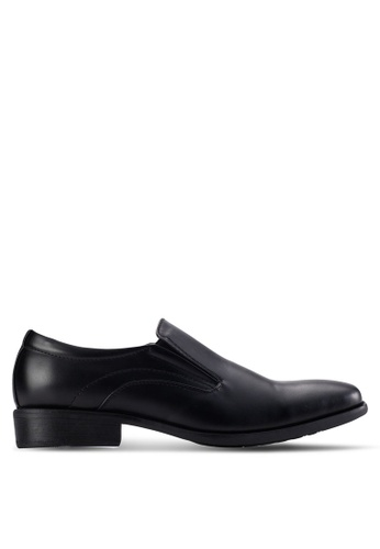 Louis Cuppers black Squared Toe Shoes LO977SH70AZLMY_1