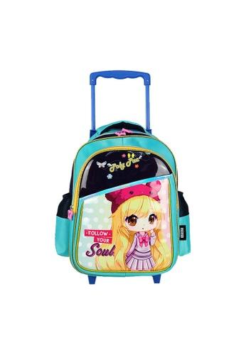 Poly-Pac navy Poly-Pac PK2029R 14 inch Kawaii Cartoon Girl Trolley Kindy School Bag 75918KC5AFB198GS_1