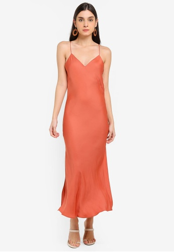 6dee92558f29 Buy TOPSHOP Cowl Back Slip Dress Online on ZALORA Singapore