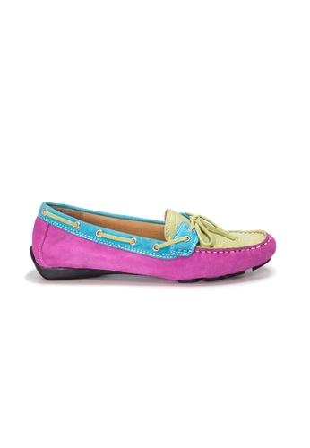 Shu Talk 多色 AMAZTEP 真皮彩虹輕便豆豆鞋(適合腳型偏闊) A4C6ESHE0CFF0AGS_1