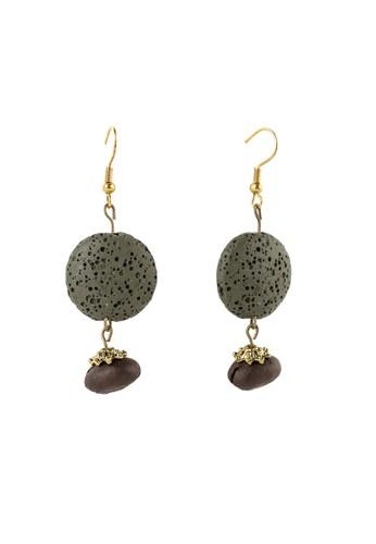 JOGLO AYU TENAN brown Lava Beads and Coffee Beans Chain Earrings ACD74AC75B2B77GS_1