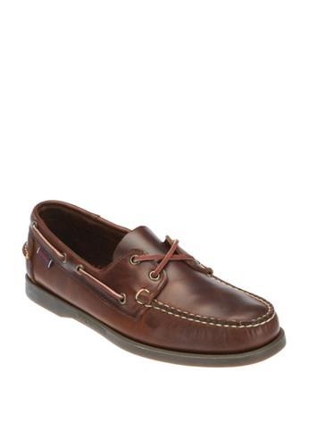 Sebago brown Mens Docksides Boat Shoes SE328SH82KYBPH_1