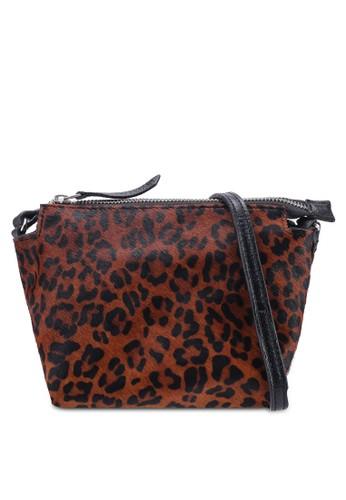 Mango black Leopard Leather Cross Body Bag E8CDFAC1CCAC6AGS_1