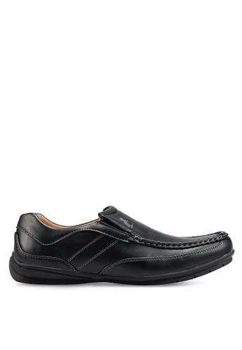 Rocklander black Matarazo Faux Leather Loafers F9AF6SHC6580A2GS_1