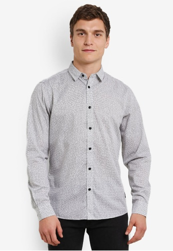 !Solid grey Kadir Flannel Shirt SO701AA0S2UQMY_1