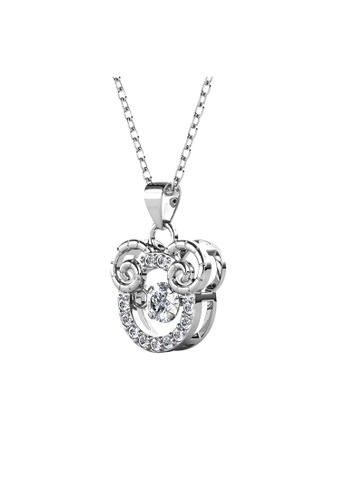 Her Jewellery 白色 Her Jewellery 12 Horoscope Pendant - ARIES (White Gold) with Premium Grade Crystals from Austria镶嵌施华洛世奇水晶 9A5B6AC2E07191GS_1