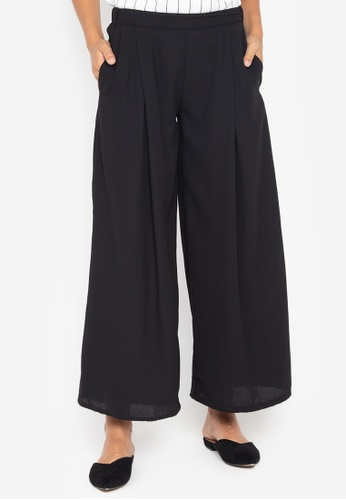 MEMO black Mid Rise Wide-Legged Trousers 8AE59AADD3B3C9GS_1