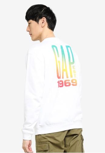 Gap white Logo Pocket Crew Sweatshirt 7AFD7AAB9B591BGS_1
