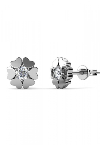 Her Jewellery silver Her Jewellery Heart Petal Earrings with 18K Gold Plated HE581AC0RDQ4MY_1