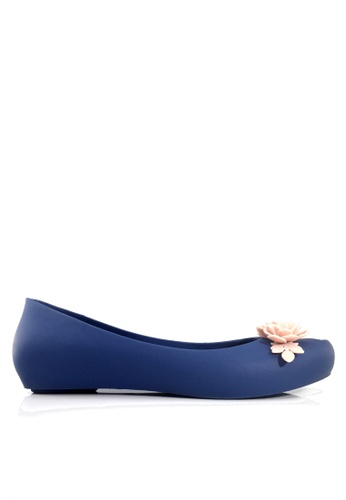 Twenty Eight Shoes blue 3D Flora Hidden Heel Jelly Rain Shoes VR379 D31B3SHE448DB4GS_1