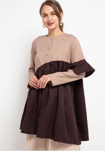 HAZELNUT brown Parvati Tunic 9E1D3AA3668BA4GS_1