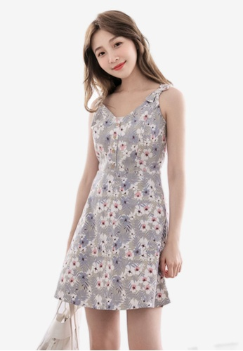 Eyescream multi Floral Flare Dress 231E4AA934F62DGS_1