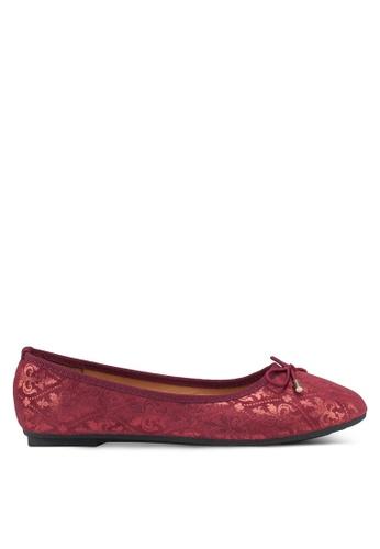 Noveni 紅色 Bow Ballerina Flats 1F643SHA06B509GS_1