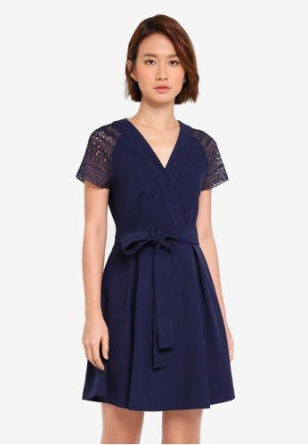 Shop ZALORA V Neck Fit   Flare Dress Online on ZALORA Philippines f7b9dd3a7